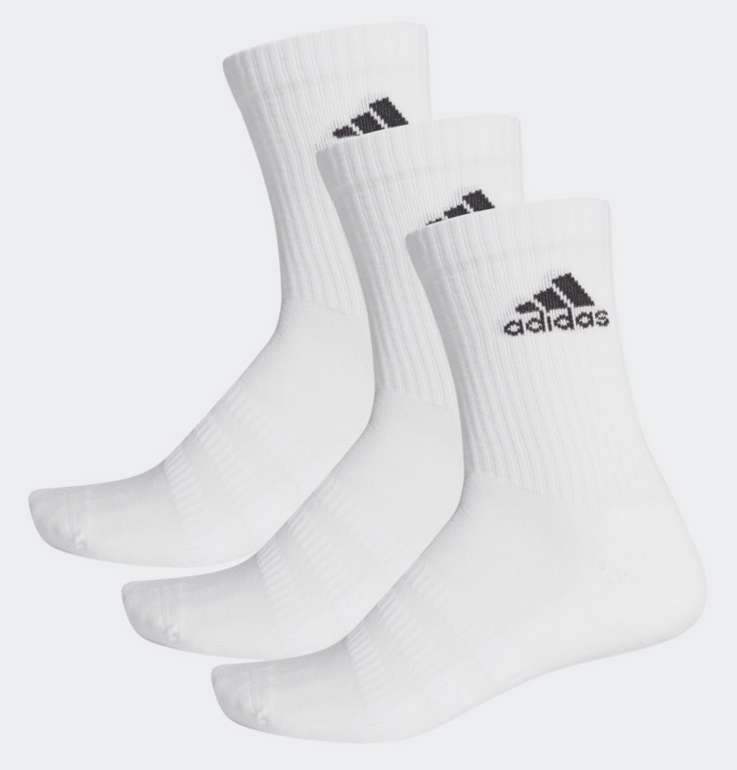 Adidas Cushioned Crew Socken 3er Pack für 8,40€ inkl. Versand (statt 12€) - Creators Club