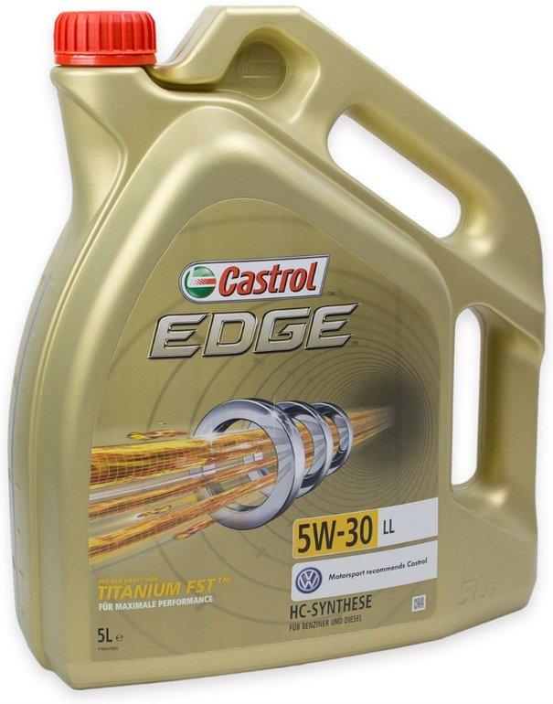 5 Liter Castrol EDGE ACEAC3 Titanium FST 5W-30 LL für 31,49€ inkl. Versand