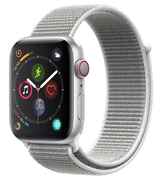 Apple Watch Series 4 (44 mm) Aluminiumgehäuse (GPS + Cellular) für 380,97€ (statt 497€)