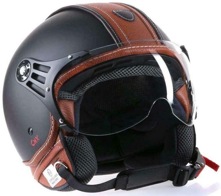 CMX Jethelm für Motorrad und Roller in Schwarz/Braun für 29,99€ inkl. Versand (statt 37€)