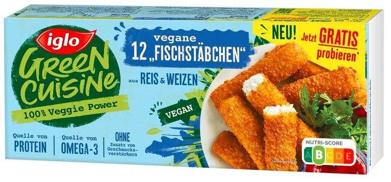 iglo Green Cuisine vegane Fischstäbchen gratis testen dank Geld-zurück-Garantie (GzG)