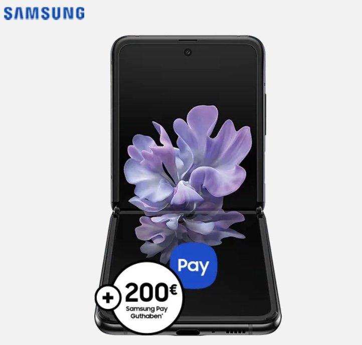 Samsung Galaxy Z Flip (+ 29€) + o2 Allnet-Flat mit 60GB LTE für 39,99€ mtl. + 200€ Samsung Pay Guthaben