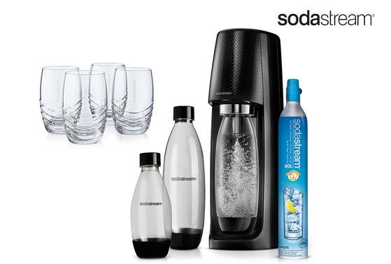 SodaStream Spirit Wassersprudler + 4 Gläser für 65,90€ inkl. Versand (statt 99€)