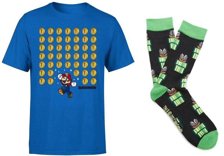Bundle: Nintendo Super Mario T-Shirt (Gr. S - XXL) + Socken für 8,99€ (statt 23€)