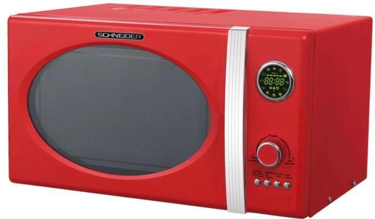 Schneider MW 823G FR Mikrowelle in rot mit 800 Watt für 64€ inkl. Versand (statt 85€)