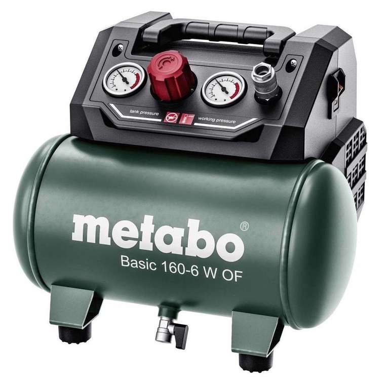 "Metabo Kompressor ""Basic 160-6 W OF"" für 80,62€ inkl. Versand (statt 101€)"