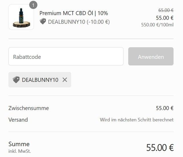 InstaHaze Premium 10% Hanfsamenöl