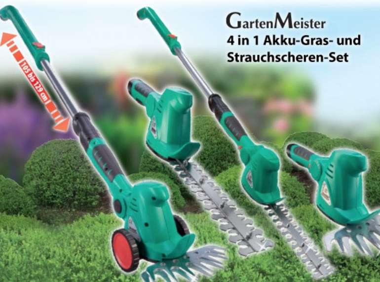 GartenMeister - 10,8 Volt Akku Gras- & Strauchschere mit Fahrstock für 60,94€ inkl. Versand (statt 76€)