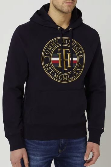 Tommy Hilfiger Hoodie mit Logo-Stickerei für 63,99€inkl. Versand (statt 80€) - M und L!