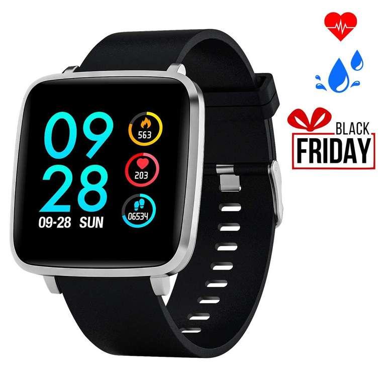 Bebinca Fitness Armbanduhr (IP68, Pulsuhr, Schrittzähler) für 28,79€ (Prime)