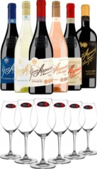 6er Gran-Appasso-Probierpaket + 6 BELViNi-Profi-Tasting-Gläser by Riedel für 75,85€ (statt 99€)