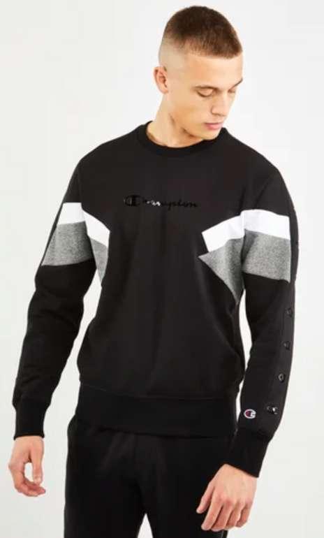 Champion Tape Crew Herren Sweatshirt in Schwarz für 35,99€inkl. Versand (statt 44€)