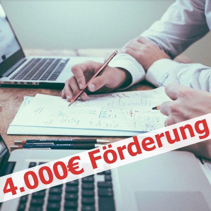 Tipp: Kostenlose, professionelle Unternehmensberatung im Wert von 4.000€ (durch Bund zu 100% gefördert)