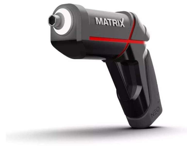 Matrix Neo 4V-Akkuschrauber (2Ah Li-Ion-Akku, USB-Aufladung, Powerbank-Funktion, Touch-Sensor) für 19,99€