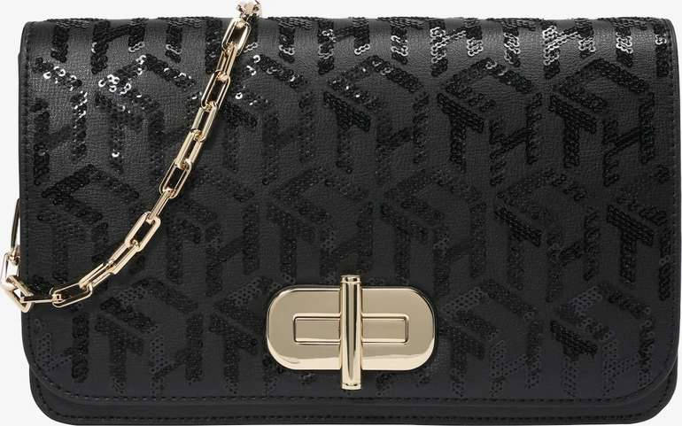 """Tommy Hilfiger Handtasche """"Turnlock Clutch Sequins"""" in schwarz für 55,17€ inkl. Versand (statt 120€)"""