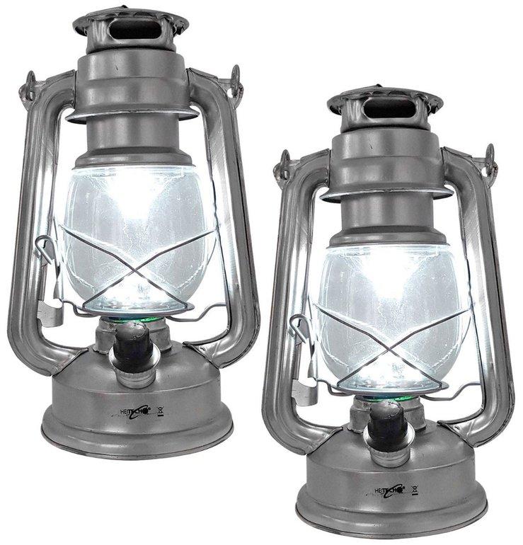 2x rustikale Laterne Hurricane III retro Lampe mit 15 LEDs nur 11,99€ statt 20€