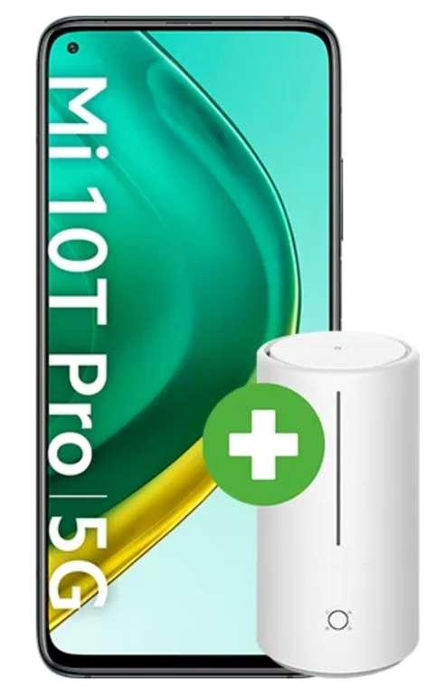Xiaomi Mi 10T Pro + Mi True Wireless Earphones 2 oder Mi Smart Antibacterial Humidifier (49€) + o2 Allnet & SMS Flat mit 12GB LTE für 19,99€ mtl.