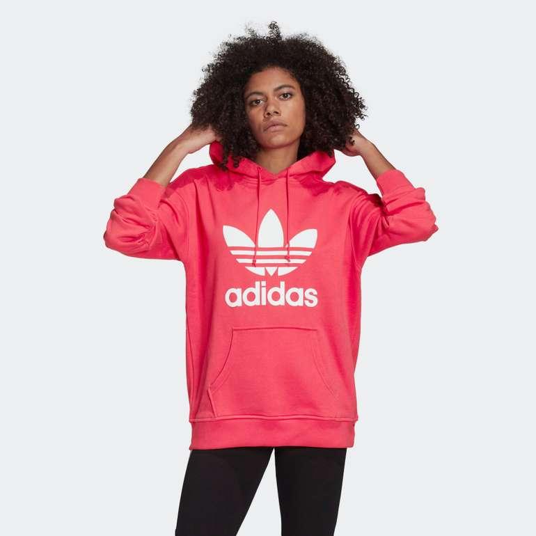 Adidas Originals Trefoil Hoodie in Rot und Schwarz für 40,91€ inkl. Versand (statt 60€)
