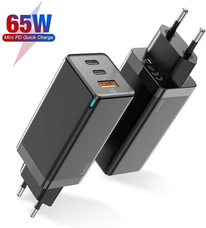 Baseus 65W USB C Ladegerät mit GaN Tech für 22,19€ inkl. Versand (statt 37€)