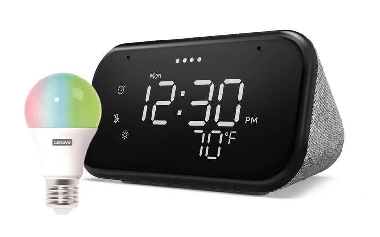 Lenovo Smart Clock Essential + Lenovo Smart Bulb für 34,99€ inkl. Versand (statt 51€)