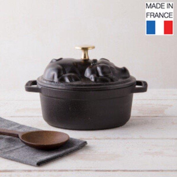 """Staub en France Sale mit bis zu 65% Rabatt - z.B. Ovaler Gusseisen Topf """"Cochon"""" für 89,99€"""