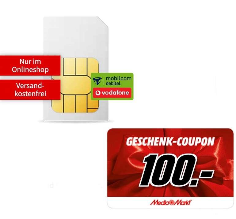 Mobilcom Debitel Vodafone Allnet- und SMS-Flat mit 18GB LTE (50 Mbit/s) für 19,99€ mtl. + 100€ Media Markt