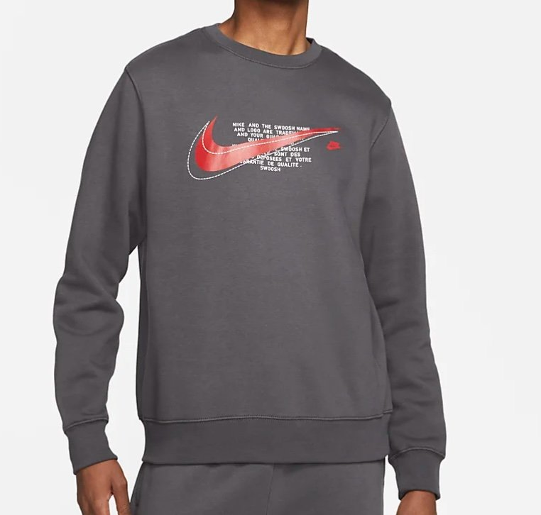 Nike Sportswear Court Crew Fleece-Rundhalsshirt für Herren nur 26,23€ (statt 40€) - Nike Membership!
