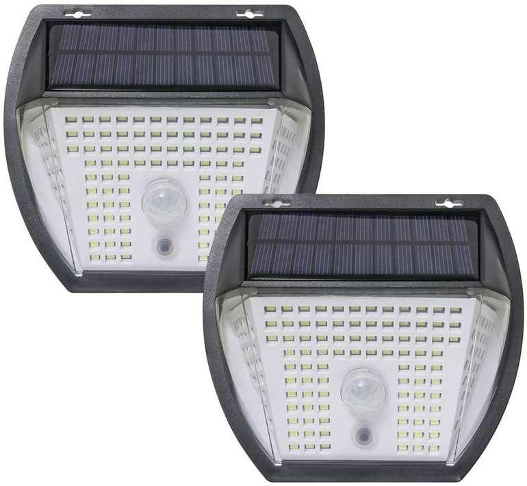 Hsility 2er Pack LED Solarleuchten (3 Modi, IP65) für 11,49€ inkl. Prime Versand (statt 23€)
