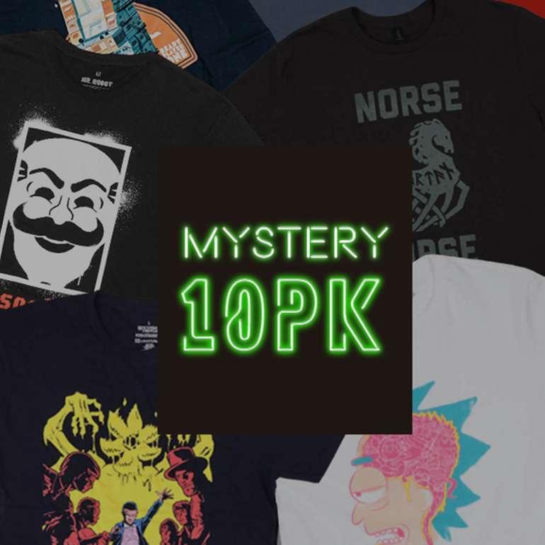 Mystery Geek: 10er-Pack T-Shirts + 2 FUNKO POPS Figuren für 32,98€  (statt 60€)