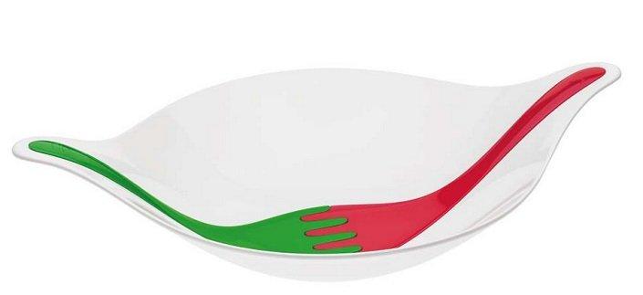 Koziol Leaf L+ 3L Salatschale mit Besteck für 15,95€ inkl. VSK (statt 25€)