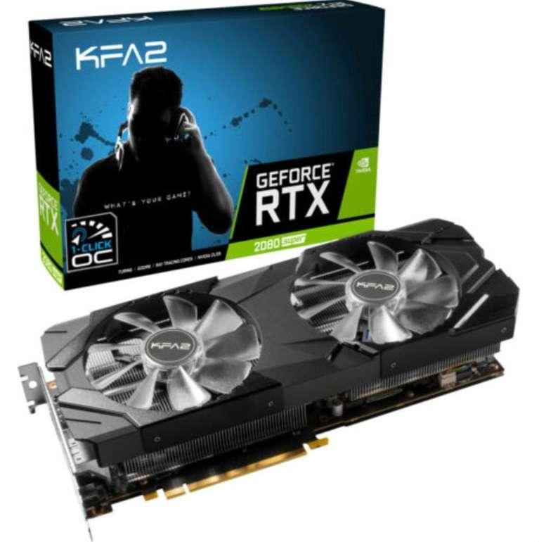 KFA2 GeForce RTX 2080 Super Ex 8GB (28ISL6MDU9EK) Nvidia Grafikkarte für 659,67€ (statt 739€)