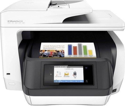 HP OfficeJet Pro 8720 Tintenstrahl-Multifunktionsdrucker D9L19A für 139€