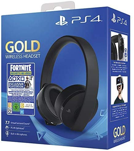 PlayStation 4 Wireless Headset Gold Edition (Fortnite Neo Versa Bundle) für 49€ inkl. Versand (statt 82€)