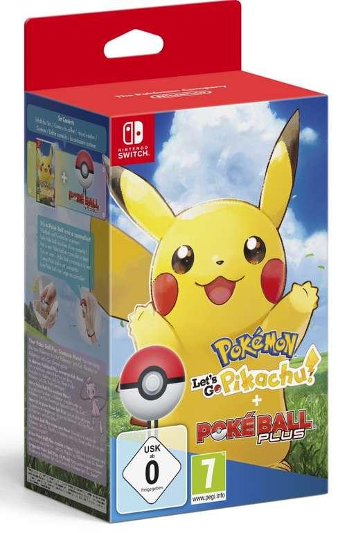 Pokemon - Let's Go, Pikachu! + Pokeball Plus für Nintendo Switch für 73,95€ inkl. Versand (statt 93€)