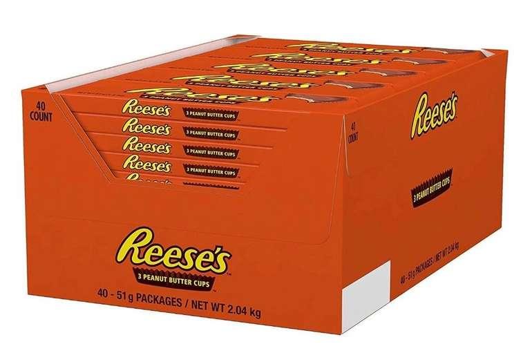2kg Reese's Peanut Butter Cups, 40er Pack (40x 51g) für 26,44€ inkl. Prime (statt 35€)