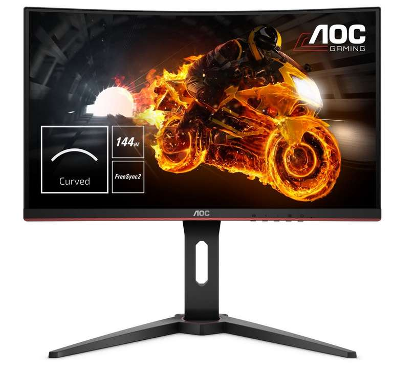 """AOC """"C27G1"""" Curved Gaming Monitor (FHD, 144Hz, 1ms, Free-Sync) + 50€ MM Gutschein für 222,16€"""