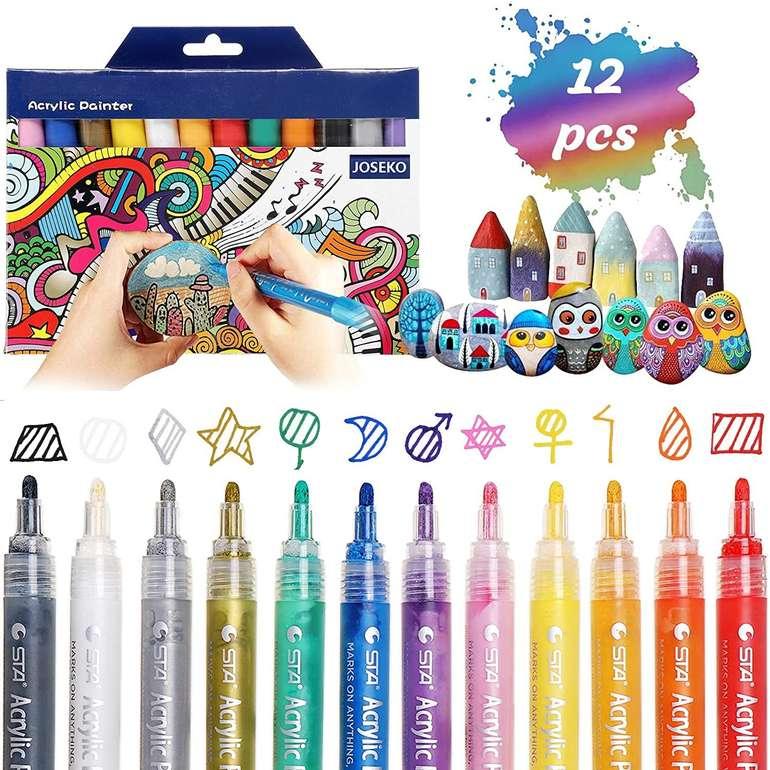 Joseko wasserfeste Acrylstifte in 12 Farben für 9,59€ inkl. Prime Versand (statt 16€)