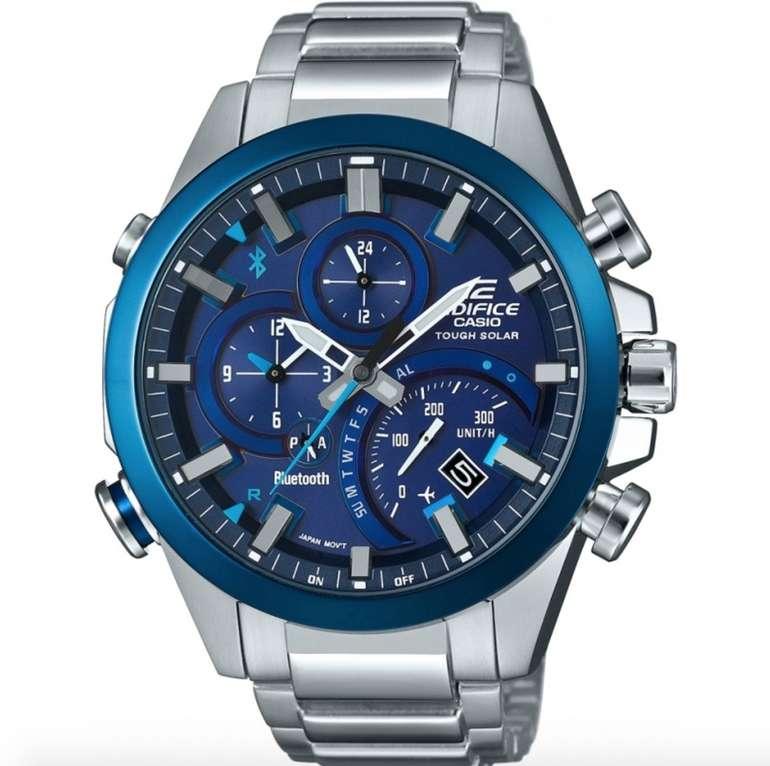 Casio Edifice EQB-501DB-2AMER Hybrid Smartwatch (Bluetooth, Solar, wasserdicht) für 189,94€