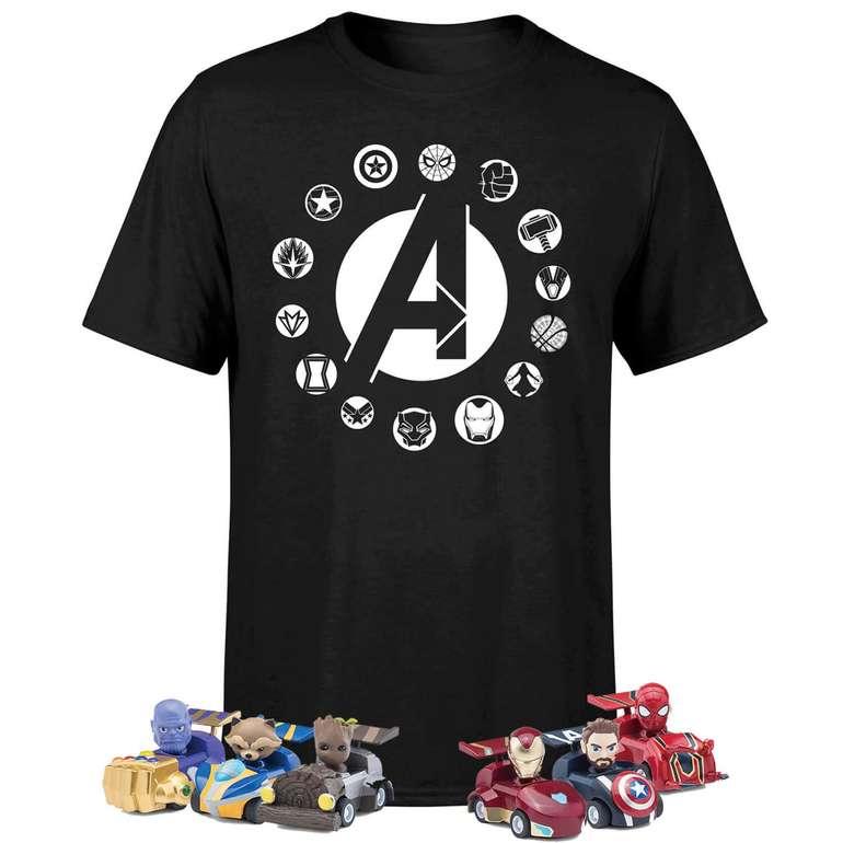 Marvel Avengers Beast Kingdom T-shirt inkl. 6 Marvel Kugelschreiber + Spielzeugautos für 16,99€