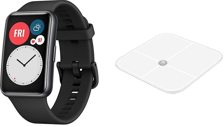 Huawei Watch Fit Smartwatch + Huawei AH100 Körperfettwaage