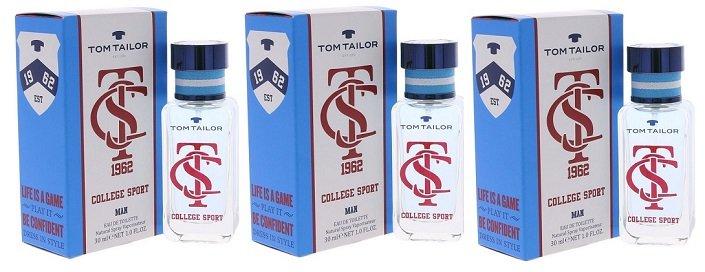 3er Pack Tom Tailor College Sport Eau De Toilette Herrenduft 30ml für 9,99€