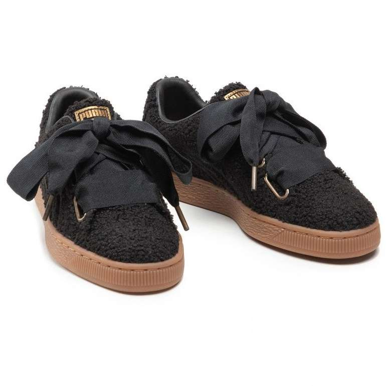 Puma Basket Heart Teddy Wn's Sneaker in Schwarz für 72,90€ inkl. Versand (statt 81€)