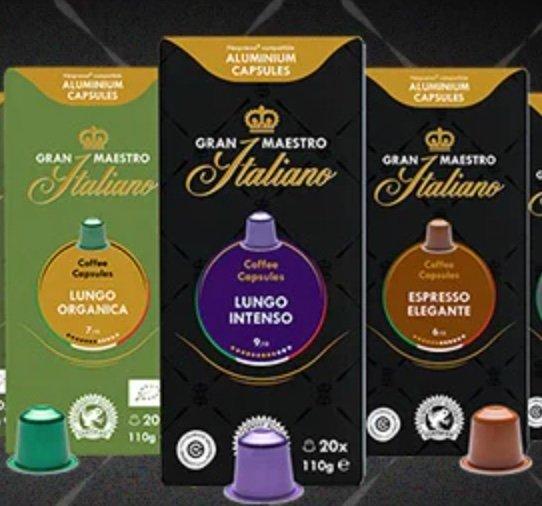 Exklusiv: 5% Rabatt auf bereits reduzierte Gran Maestro Italiano Kapseln (Nespresso kompatibel) bei KaffeeVorteil