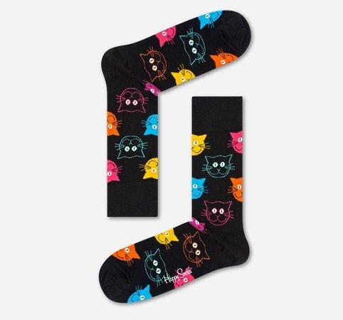 Happy Socks: 20% Rabatt auf nicht reduzierte Artikel z.B. Cat Socks für 8€