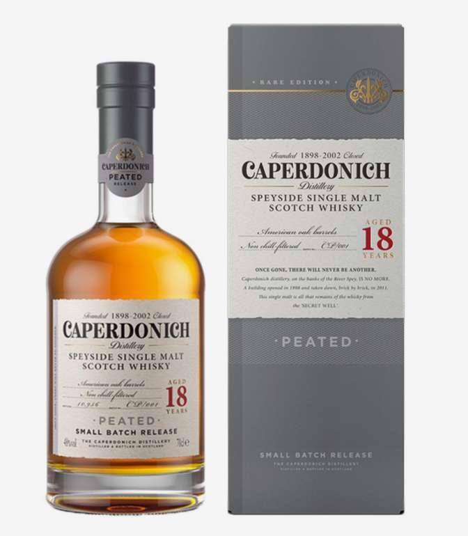 Caperdonich Peated Speyside Single Malt Scotch Whisky 0.7L Geschenkpackung (18 Jahre) für 120,85€inkl. Versand