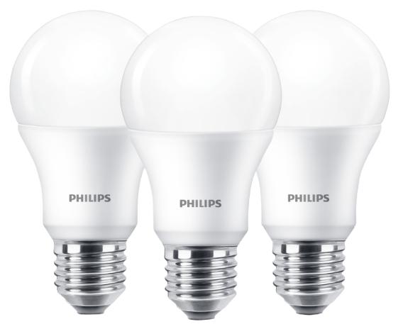 3er Pack Philips 82819900 E27 Lampen (warmweiß, 9 Watt, 806 Lumen) für 5,99€