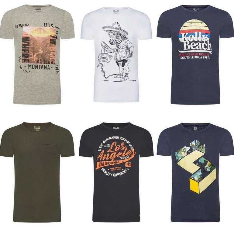 Blend & !Solid Herren Print T-Shirts aus 100% Baumwolle für je 7,95€ inkl. Versand (statt 13€)