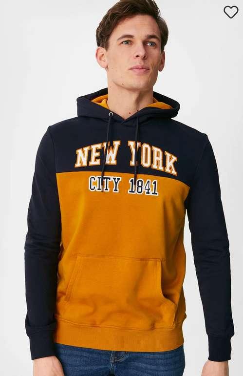 C&A Herren New York Hoodie (3 Modelle) für 13,49€inkl. Versand (statt 20€)