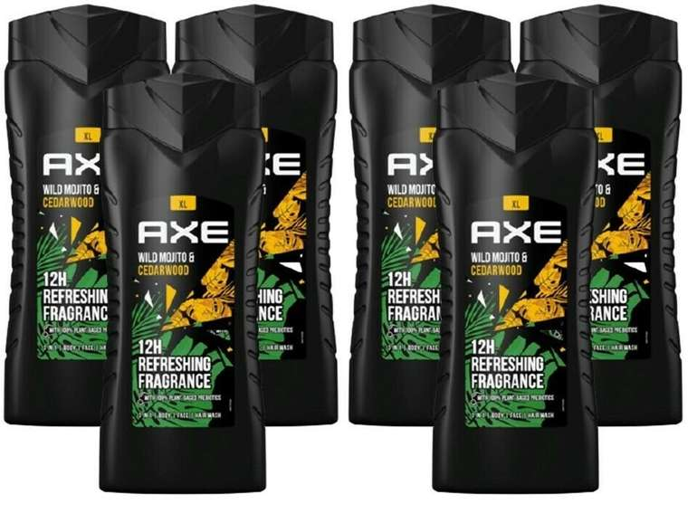 "AXE Duschgel ""Wild Green Mojito & Cedarwood"" 6x400 ml für 14,39€ inkl. Versand (statt 20€)"