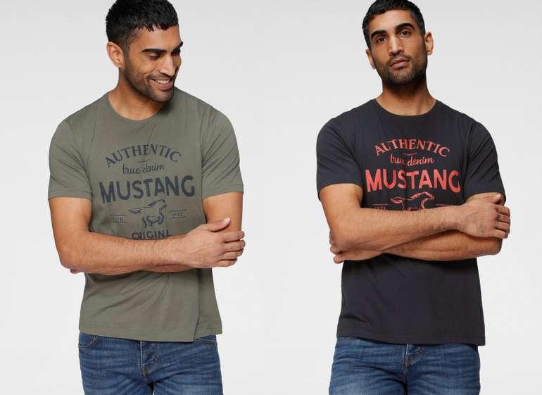 Mustang T-Shirt mit großem Logofrontprint in 4 Farben für je 12,94€ inkl. Versand (statt 16€)